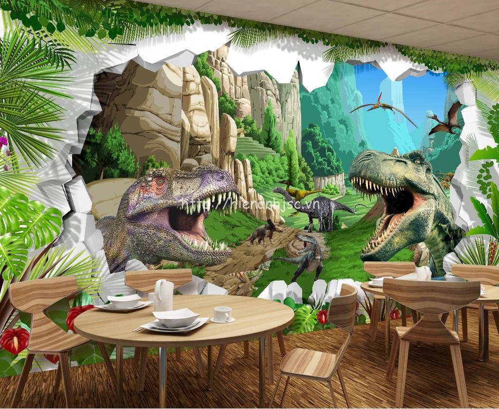 Bạn cũng có thể tạo ra không gian ấn tượng cho quán cà phê với mẫu tranh này