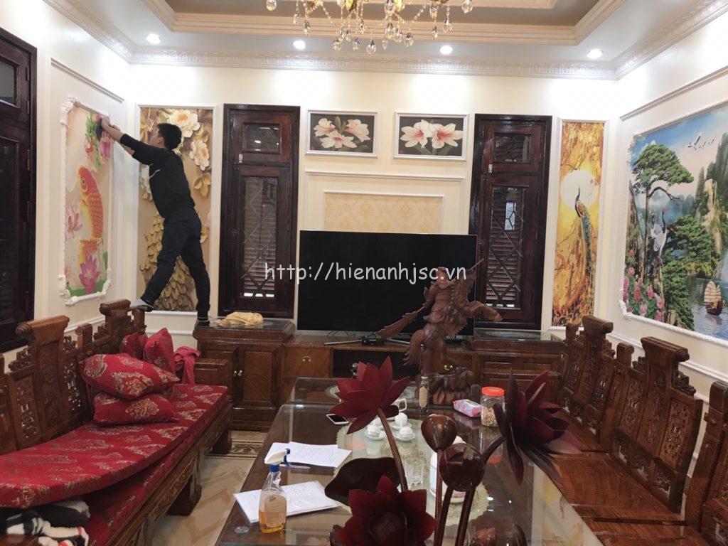 Tranh dán tường phòng khách Lạng Sơn