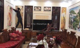 Thi công tranh dán tường 5D cho nhà chú Thành tại Lạng Sơn