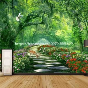 tranh-dan-tuong-boi-canh-thien-nhien-nui-rung2