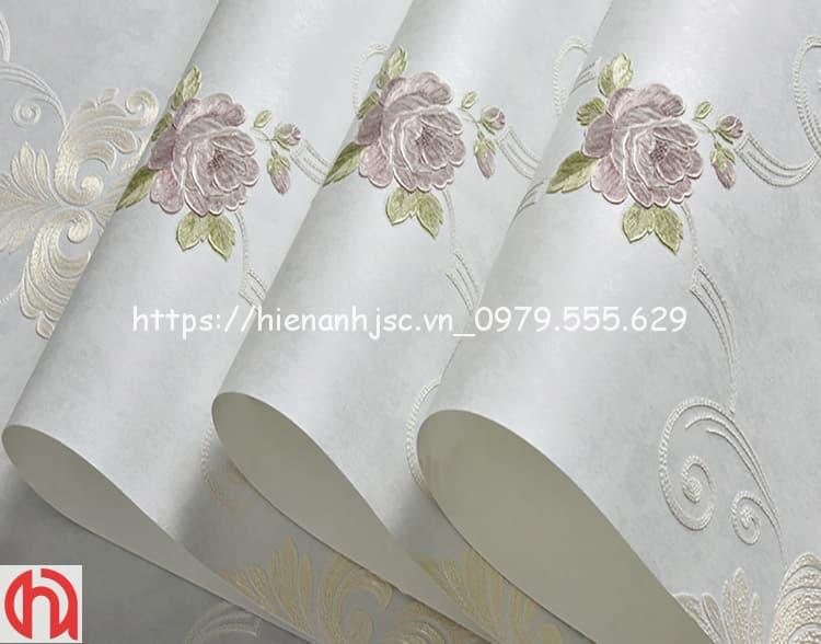 họa tiết hoa hồng phong cách Châu Âu 3D248-1