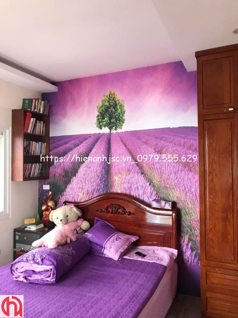 Tranh dán phòng ngủ cho cô Thanh tại Hà Nội