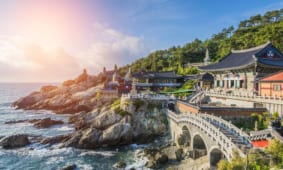 20 mẫu tranh dán tường phong cảnh Hàn Quốc 3D đẹp nhất